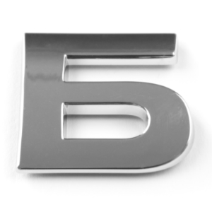 Б, 3D Chrombuchstabe