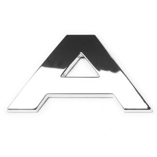 A, 3D Chrombuchstabe