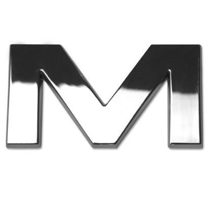 M, 3D Chrombuchstabe