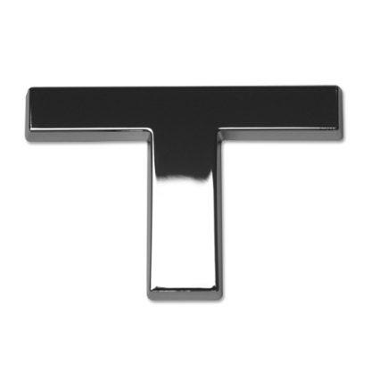T, 3D Chrombuchstabe