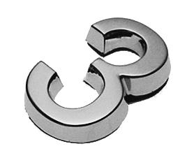 3, 3D Ziffer 24mm