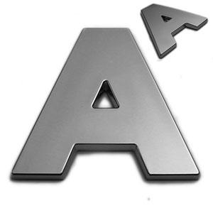 A, 3D Chrombuchstabe 50mm
