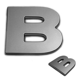 B, 3D Chrombuchstabe 50mm