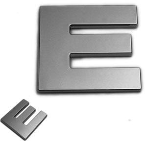 E, 3D Chrombuchstabe 50mm