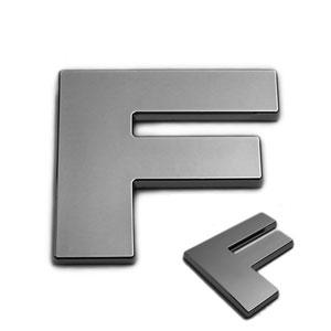F, 3D Chrombuchstabe 50mm