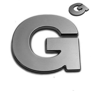 G, 3D Chrombuchstabe 50mm