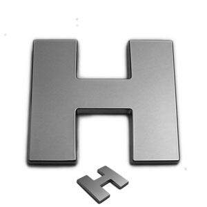 H, 3D Chrombuchstabe 50mm