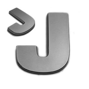 J, 3D Chrombuchstabe 50mm