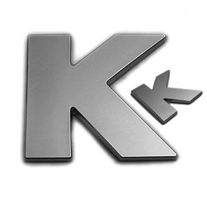 K, 3D Chrombuchstabe 50mm
