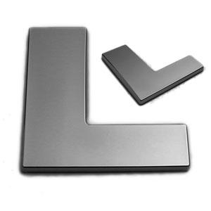L, 3D Chrombuchstabe 50mm