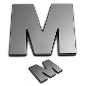 M, 3D Chrombuchstabe 50mm