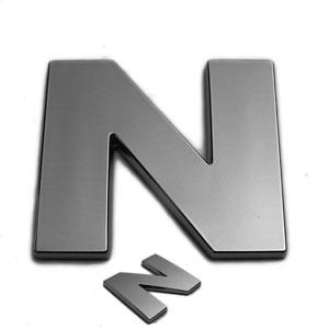 N, 3D Chrombuchstabe 50mm