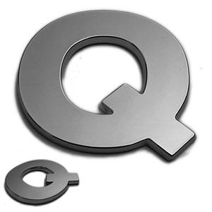 Q, 3D Chrombuchstabe 50mm
