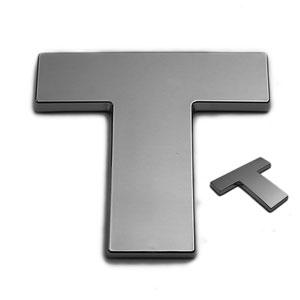 T, 3D Chrombuchstabe 50mm