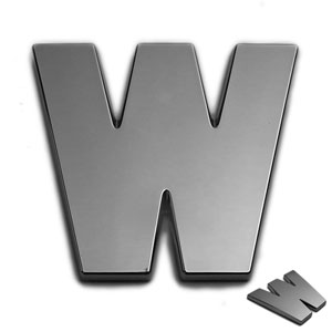 W, 3D Chrombuchstabe 50mm
