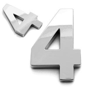 4, 3D Ziffer 55mm