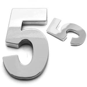 5, 3D Ziffer 55mm