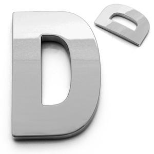 D, 3D Buchstabe 55mm