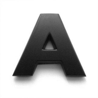 A, 3D Kunststoffbuchstabe, selbstklebend, mattschwarz