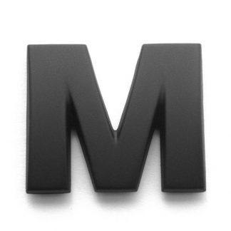 M, 3D Kunststoffbuchstabe, selbstklebend, mattschwarz
