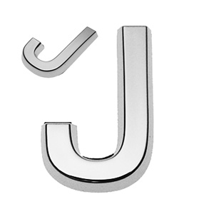 J, 3D Buchstabe 30mm