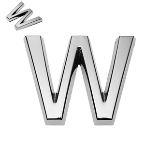 W, 3D Buchstabe 30mm