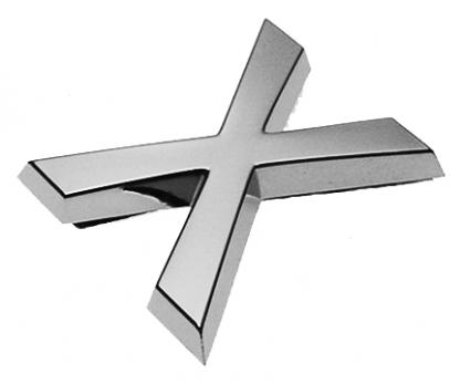 X, 3D Buchstabe 30mm