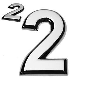 2, 3D Ziffer flach