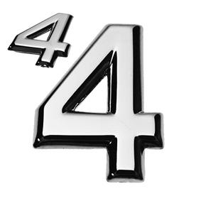 4, 3D Ziffer flach