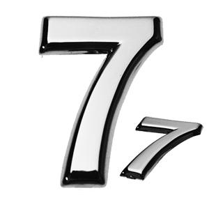 7, 3D Ziffer flach