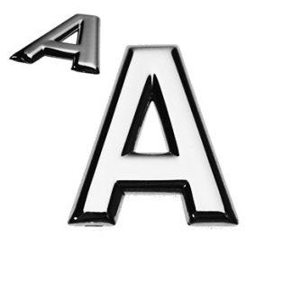 A, 3D Buchstabe flach