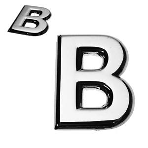B, 3D Buchstabe flach