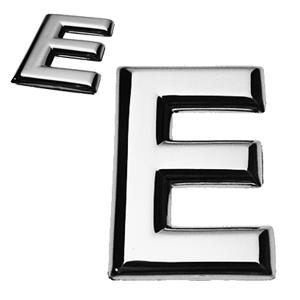 E, 3D Buchstabe flach
