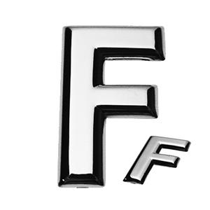 F, 3D Buchstabe flach
