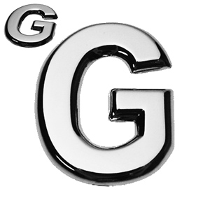 G, 3D Buchstabe flach
