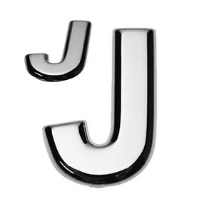 J, 3D Buchstabe flach