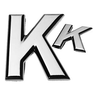 K, 3D Buchstabe flach