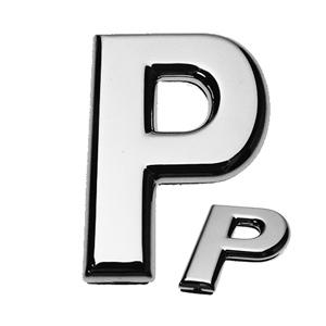 P, 3D Buchstabe flach