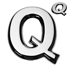 Q, 3D Buchstabe flach