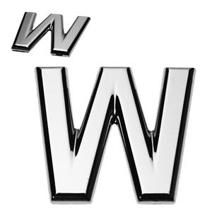 W, 3D Buchstabe flach