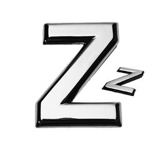 Z, 3D Buchstabe flach