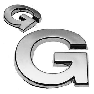 G, 3D Chrombuchstabe