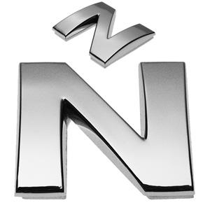 N, 3D Chrombuchstabe