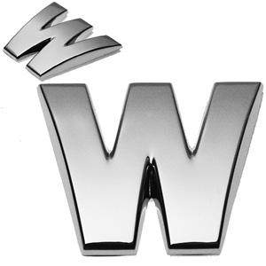 W, 3D Chrombuchstabe